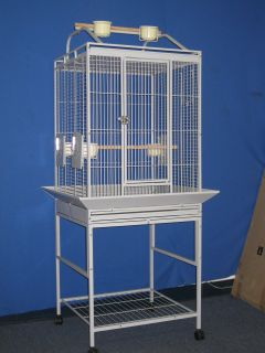 24x22x63 Parrot Bird Cage Cages Birds Stand Perch WI2402 Shell