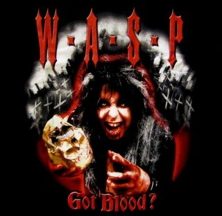 Wasp Blackie Lawless got Blood Official Shirt XL New