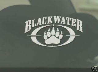 RARE Blackwater USA Security Paw Window Decal Military Mercenary