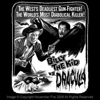 Billy The Kid vs Dracula Shirt Horror Western Vampire