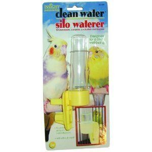 Pet Clean Water Feeder Bird Cage Accessory Vertical & Horizontal Bar