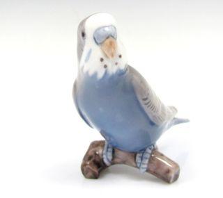 & GRONDAHL PARAKEET Figurine Budgie Budgerigar Porcelain 2210 Bird