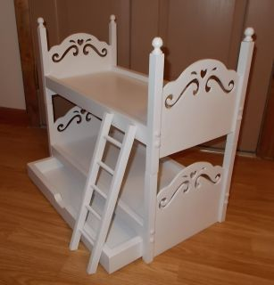New Bunk Doll Bed With Trundle For American Girl Or Other 18 Dolls
