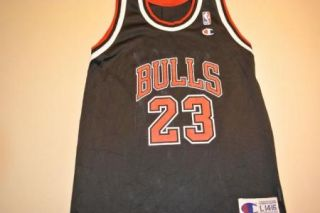 Michael Jordan Kids Large Chicago Bulls Jersey Black