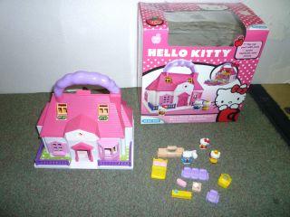 Blue Box Hello Kitty Carry Along Mini Dolls House Playset