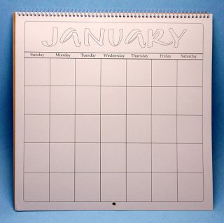 Spiral bound calendar pages kit contains 12 heavy cardstock blank 12