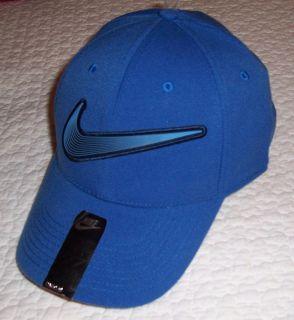 NWT ~ UNISEX NIKE LEGACY 91 FLEXFIT TRAINING BALL CAP HAT ~ BLUE ~ ONE