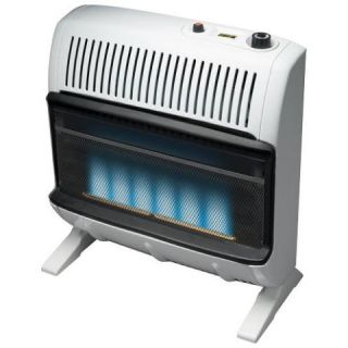vent free blue flame gas heater convenient top mounted comfort control