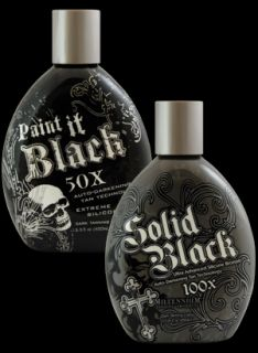Millennium Paint It Black Solid Black Indoor Tanning Bed Lotion 2