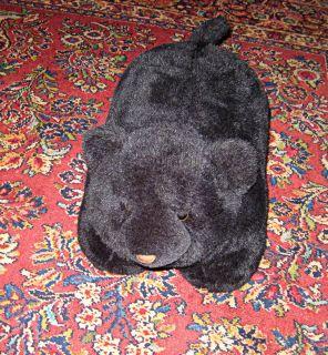 Black Bear Cub Foot Rest Ottoman Plush Stuffed Toy 20