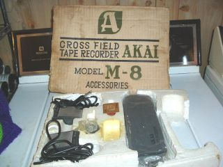 Accessories Kit for An Akai M 8 Reel to Reel Tape Recorder