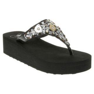 Womens Rocket Dog Bizzy Black Sandals