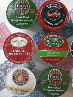 Keurig 12 K Cup Coffee Iced Tea Assortment Lot 8 Varieties