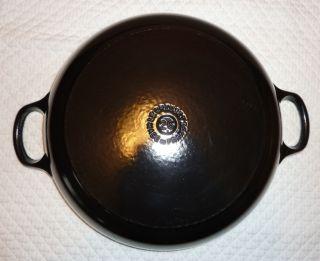 Black Le Creuset 2 25 Qt 26 Buffet Casserole Braiser Enamel Over Cast