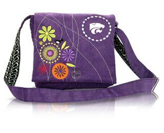 Kansas State Wildcats Corduroy Messenger Bag Purse
