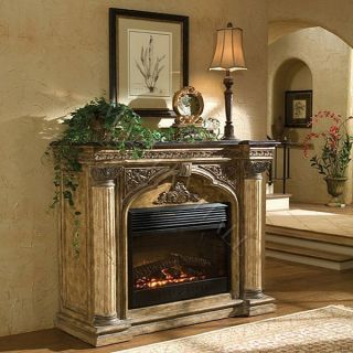 Electric Fireplace With Faux Stone Surround EF700SP