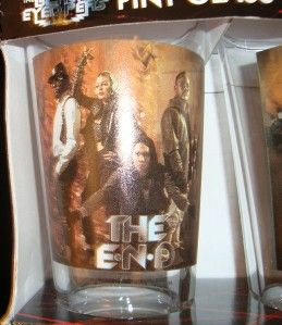 BLACK EYED PEAS SET OF PINT 16 OUNCE GLASSES FULL BAND PHOTOS ~THE