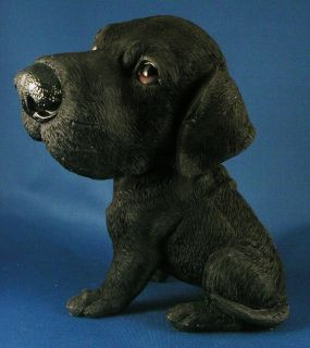 BLACK LAB PUPPY FIGURINE Labrador Retriever Dog NEW Big Head Statue