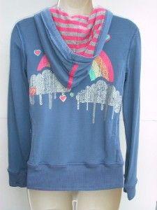 Bloomies Retro Regression Hoodie Jacket Sweatshirt L