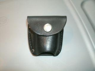 Black Powder Revolver Leather Extra Cylinder Belt Pouch