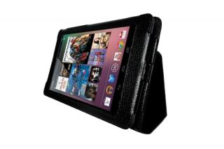 Rotate PU Leather Case Cover for Google Nexus tablet 7 inch   BLACK