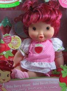 STRAWBERRY SHORTCAKE BABY BERRY BLOW KISS KISSES DOLL 2007 MIB RARE NO