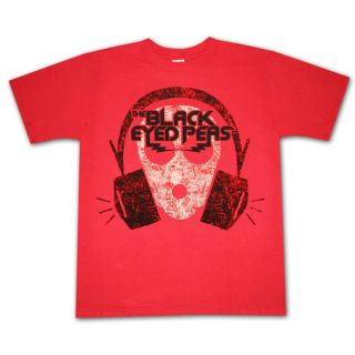 Black Eyed Peas Headphones Red Graphic Tee Shirt