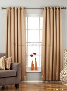 Taupe Ring Grommet Top 90 Blackout Curtain Drape Panel Custom Made