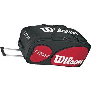 Wilson Tour Wheeled Traveler Tennis Bag Black Red