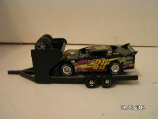Custom Hand Built Black Modified Dirt Late Model Race Car Hauler