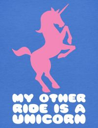 Other Ride Unicorn Funny American Apparel BB401 T Shirt