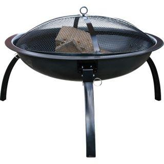 Blue Rhino 24 Foldable (Portable) Outdoor Firebowl/Fire Pit   Black