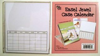 Scrapbooking Calendar Page Kit Easel Display Stand