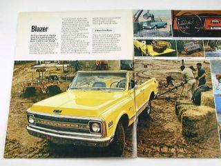 1970 70 Chevrolet Chevy Blazer Brochure 4WD 2WD