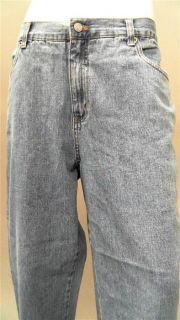 Bill Blass Easy Fit Petite 16P Stone Wash Straight Leg Jeans Jean Blue