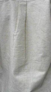 Bill Blass Jeans Ladies Womens L Linen Button Down Top Natural Ivory