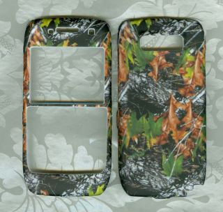 Camo Leaves Nokia E71 Straight Talk Phone Cover Case