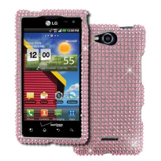 Empire Pink Bling Case Cover LCD Guard 3 Pack Stylus for LG Lucid 4G