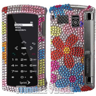 Bling Diamante Rhinestone Hard Case Cover for Sanyo Incognito SCP 6760