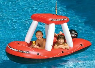 Pool Float Inflatable Kids Toy Swimline Fire Boat Game