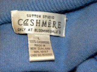 Sutton Studio100% Cashmere Blue Womens Sweater