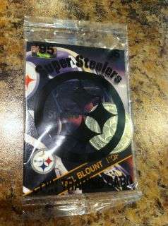 Pittsburgh Steelers Football 1995 Mel Blount Card with Coin Giant