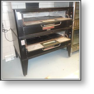 Blodgett 961 Gas Double Deck Pizza Oven Very Nice
