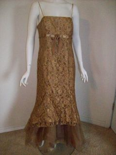Blondie Nites Prom Formal long evening Cocktail dress 11 Gold Special
