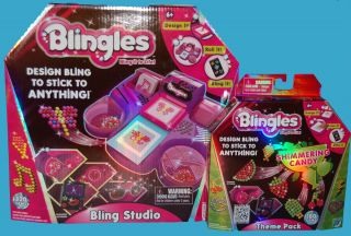 NEW Blingles Bling Studio Arts Crafts + Candy Theme Pack Design Bling