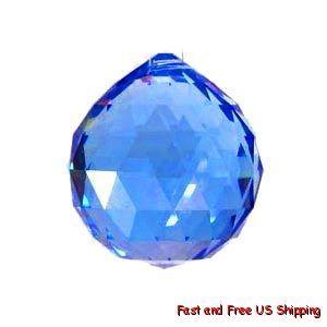 30mm Blue Crystal Ball Prisms Chandelier Suncatchfeng Shui Home Decor