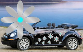 32 New Silver Daisy Car Decals Stickers Graphics Beetle