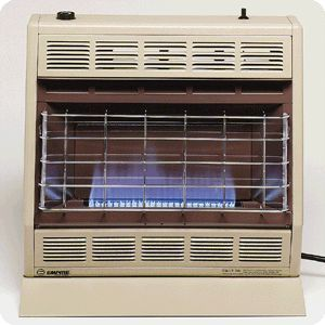 30K BTU BF30 Vent Free Thermostatic Blue Flame Natural / LP Gas Heater