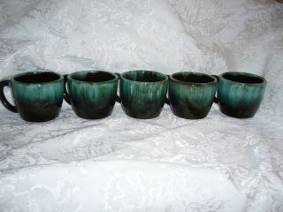 5 Blue Mountain Pottery Coffee cups