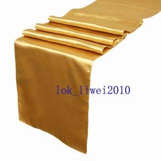 5pcs New Gold Satin Table Runners 12 x 108 Wedding